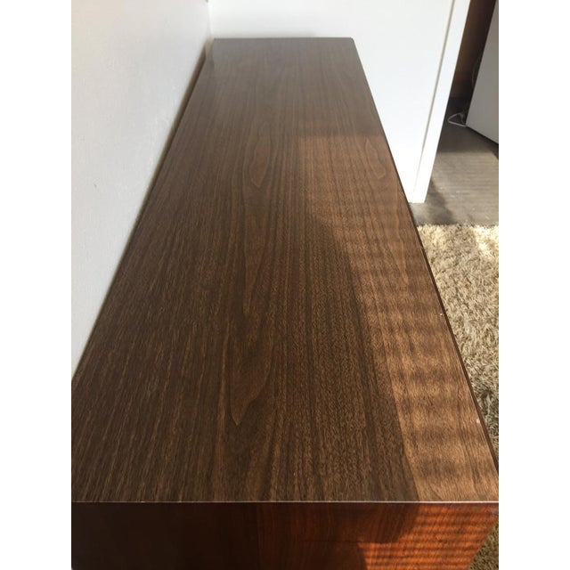 Chestnut Final Markdown- Danish Mid-Century Modern Formica Credenza For Sale - Image 8 of 10