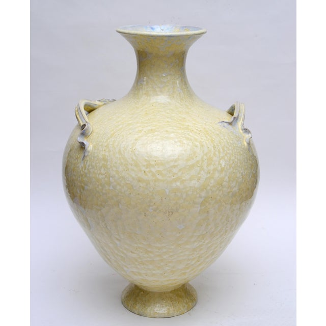 Studio Pottery Vessel by Paul Adams. Impressive work in a crystalline glaze. Adams' pieces in this size are a rare find.