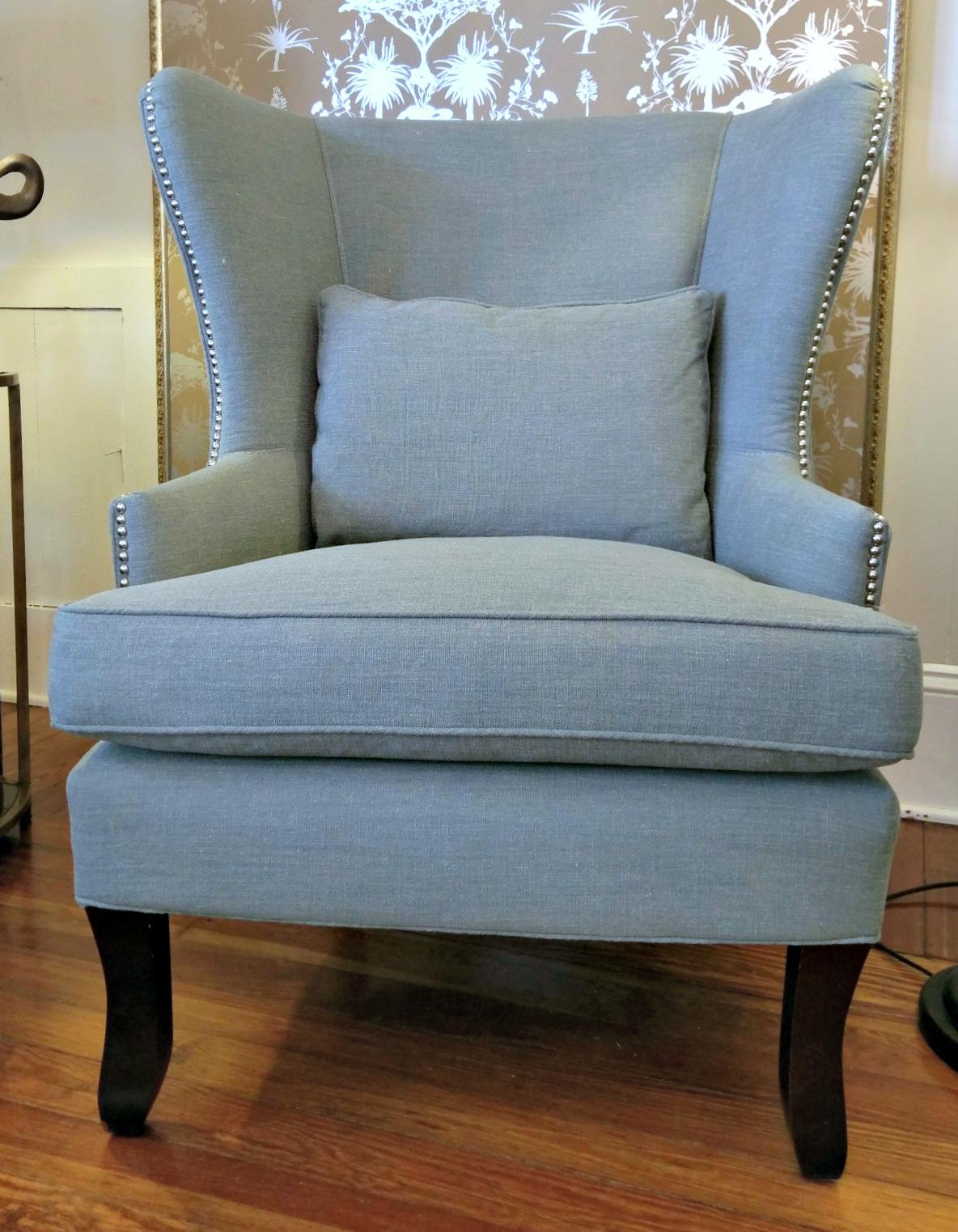 Klaussner Krauss Oversized Nailhead Detail Wingback Chair   Image 2 Of 5