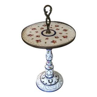 Antique French Limoges Porcelain Accent Table