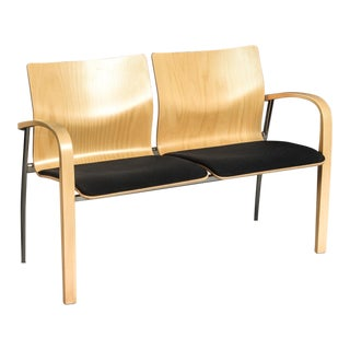 Modern Brunner Zweisitzer Two-Seat Bench For Sale