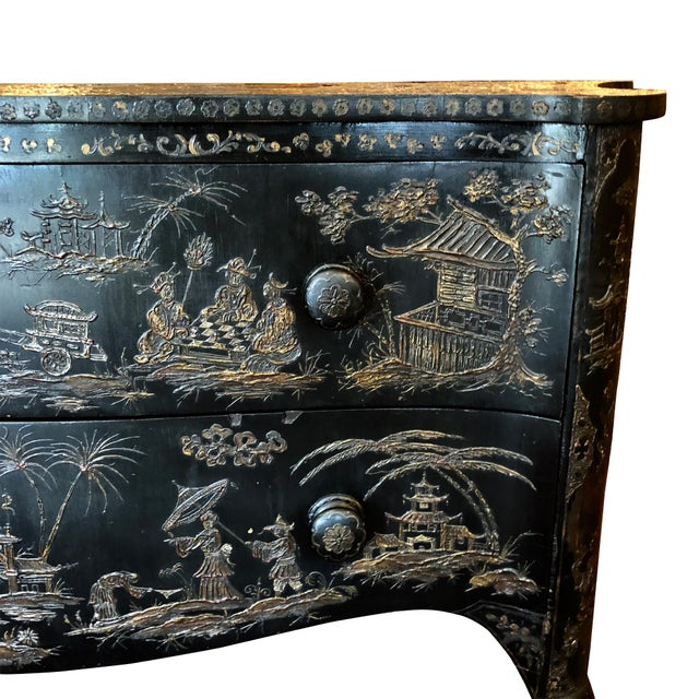 18th Century Italian Japanense Style Two Drawer Chest For Sale - Image 4 of 10