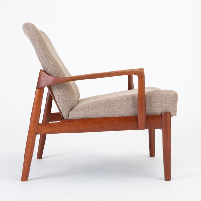 Brass Model 125 Lounge Chair by Tove & Edvard Kindt-Larsen for France & Son For Sale - Image 7 of 13