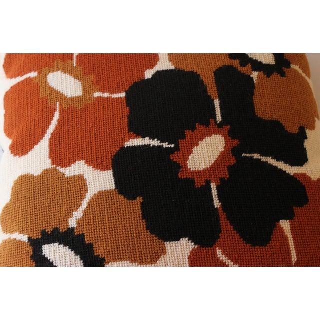Mod Poppy Needlepoint Pillow - Image 4 of 6