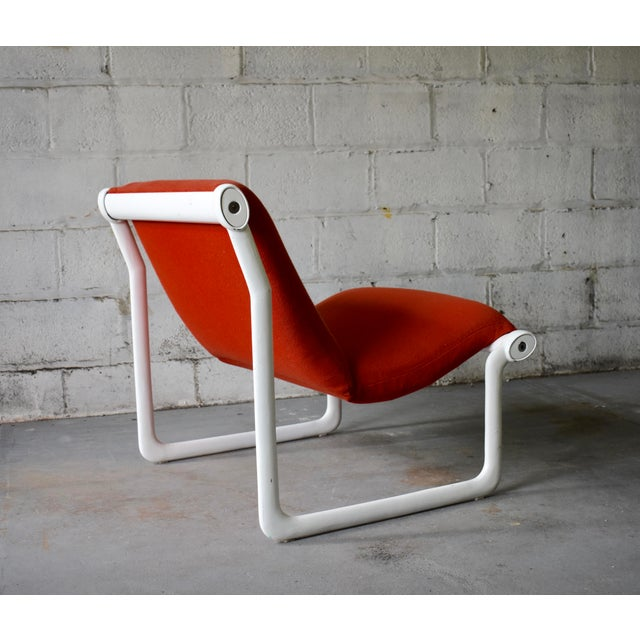 Metal Hannah & Morrison for Knoll Mid Century Modern Sling Lounge Chair For Sale - Image 7 of 13
