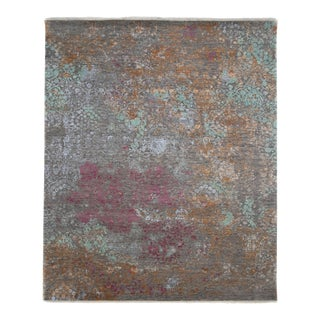 """One-of-a-Kind Contemporary Hand-Knotted Area Rug 8' 0"""" x 9' 10"""" For Sale"""