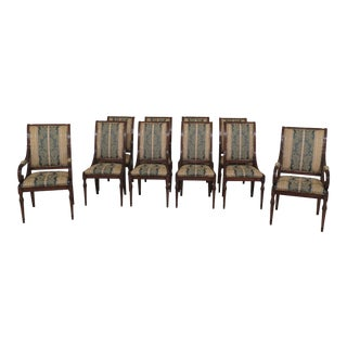 Vintage Karges French Louis XVI Style Dining Room Chairs- Set of 10 For Sale