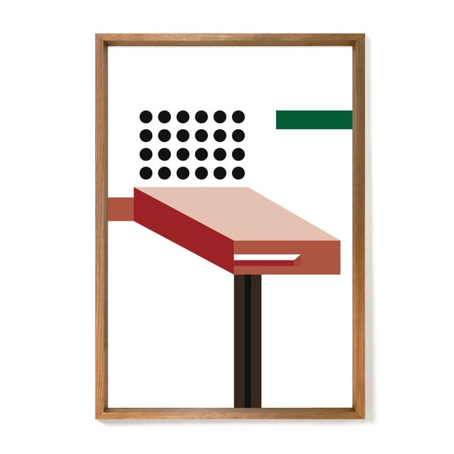Edition of 35, numbered and stamped Oak matt lacquer frame British designer Sebastian Wrong added limited-edition prints...
