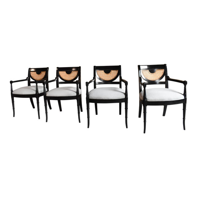 Regency Dining Chairs - Set of 4 - Image 1 of 8