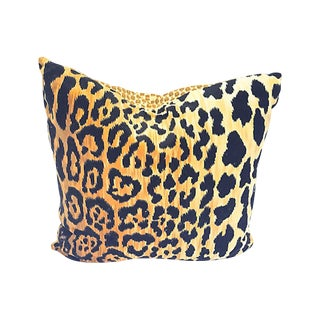Late 20th Century Velvet Leopard Pillow For Sale