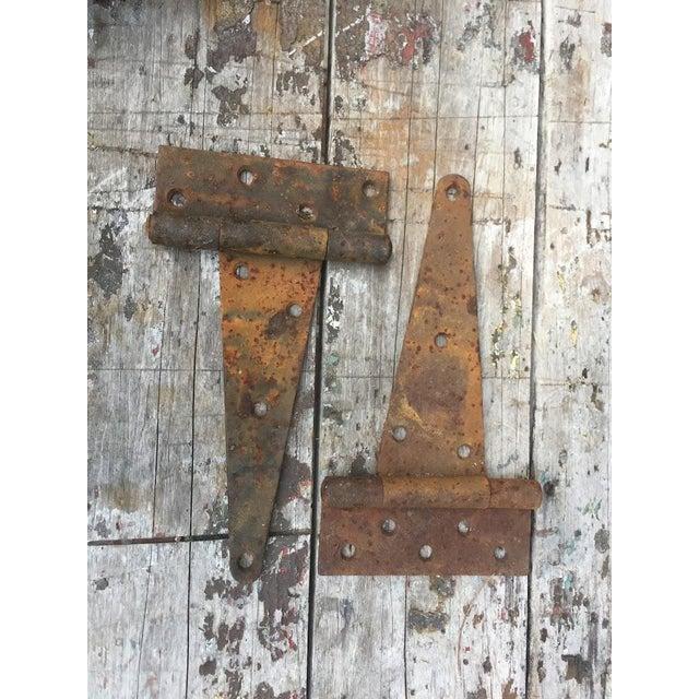Antique Barn Door Hinges For Sale - Image 4 of 7