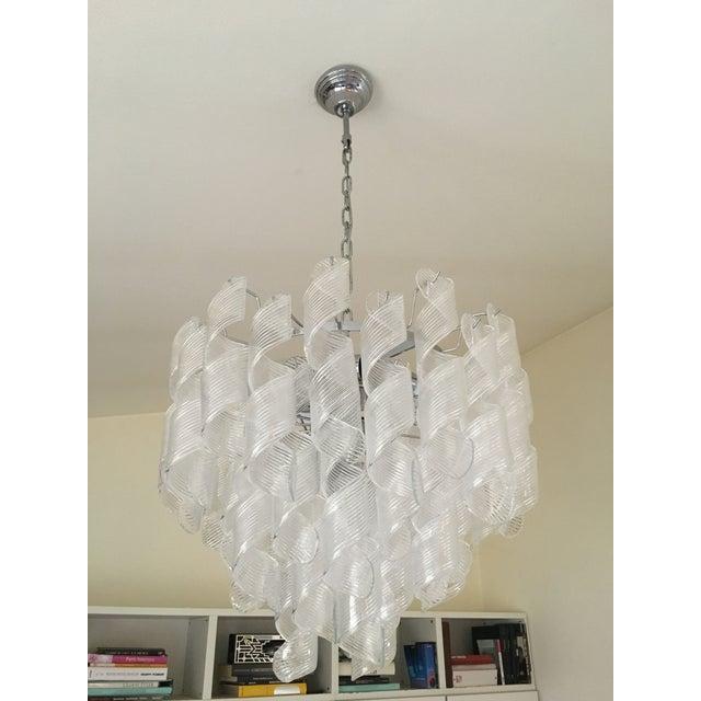 "2010s Mazzega Style Murano Glass ""Spirale"" Sputnik Chandelier For Sale - Image 5 of 11"