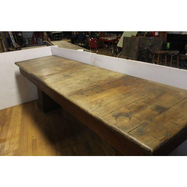 Rustic 1900's Vintage American Department Store Display Table For Sale - Image 3 of 3