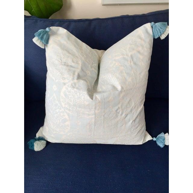 Early 21st Century Custom Galbraith & Paul Little Lotus Pillow Cover For Sale - Image 5 of 5