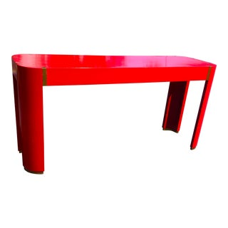 Late 20th Century Milo Baughman Painted Olive Wood Table For Sale