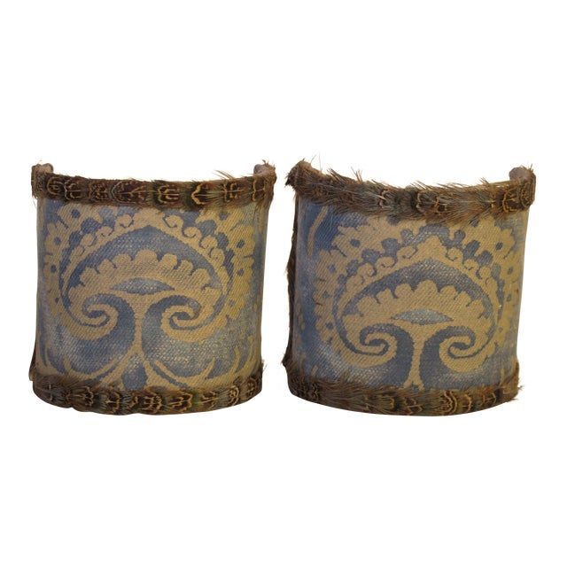 Fortuny Sconce Shades - a Pair For Sale