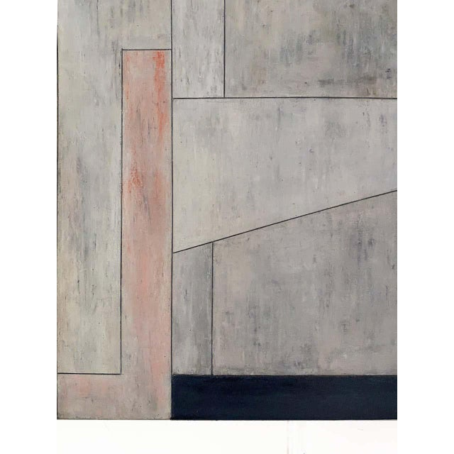 "Stephen Cimini ""Onyx Meets Selenite"" Oil on Canvas Artwork For Sale - Image 4 of 7"