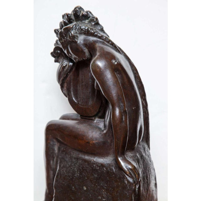 Brown Art Deco Bronze by Amedeo Gennarelli For Sale - Image 8 of 9
