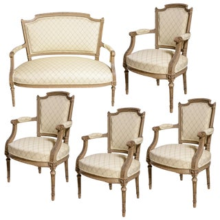 Louis XVI Salon Set - 5 Pc. Set For Sale