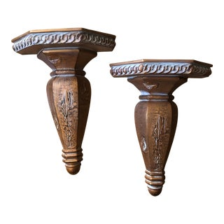Wooden Wall Sconces - A Pair