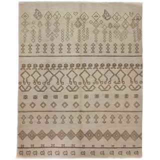 """Moroccan, Hand Knotted Area Rug - 8'3"""" X 10'3"""" For Sale"""