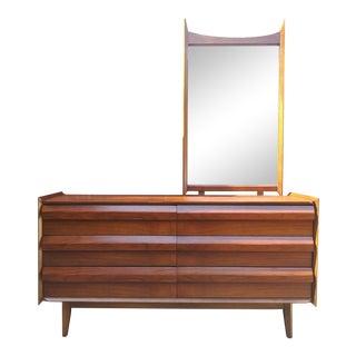 "Lane ""1st Edition"" Mid Century Modern Dresser With Mirror For Sale"