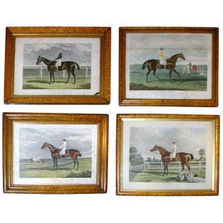 Set of Four 19th Century Equestrian Prints For Sale