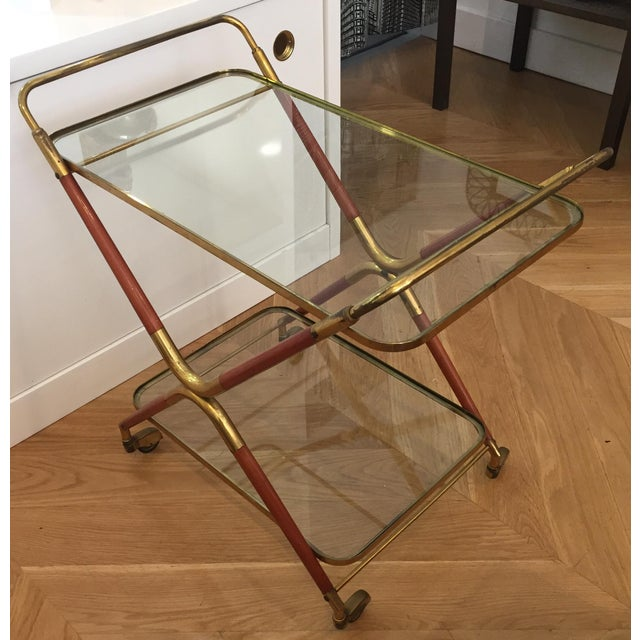 1950s Italian Cesare Lacca Bar Cart Server For Sale In San Francisco - Image 6 of 11