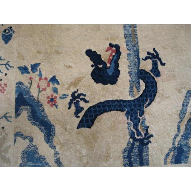 """Antique Chinese Peking Rug 4'2"""" X 6'10"""" For Sale - Image 10 of 11"""