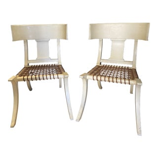 Mid Century Modern Klismos Chairs- A Pair For Sale