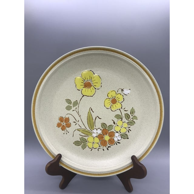 These dishes are are so bright and cheery. These Japanese stoneware dishes are a Speckled brown base with Orange and...