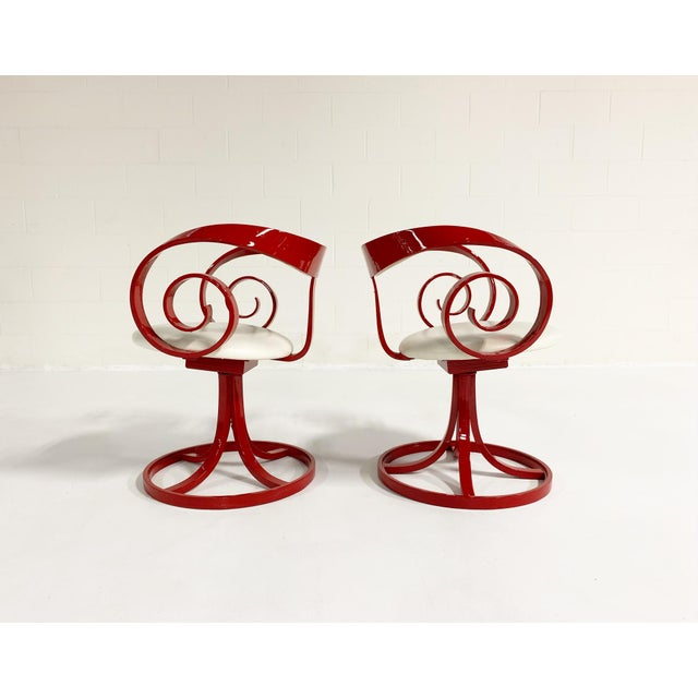Plycraft George Mulhauser Red Sultana Chairs, Pair For Sale - Image 4 of 6