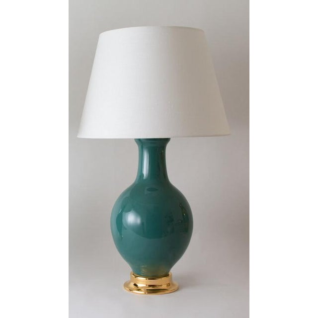 The PRESIDIO lamp is shown in our Glossy #1142 glaze. Handmade and signed by Paul Schneider. Three week lead time. LAMP...