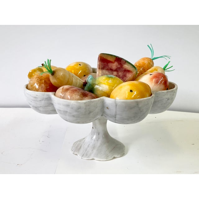 Mid 20th Century Vintage Italian Marble Tazza Holding Fruit and Vegetables For Sale - Image 5 of 13