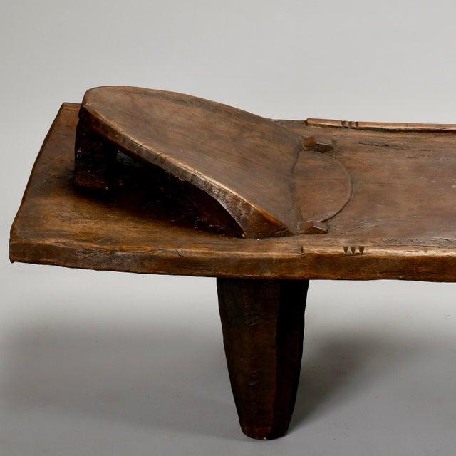 Ivory Coast Dark Wood Senufo Bench - Image 4 of 11