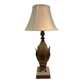 Hollywood Regency Filigree Jewelled Table Lamp