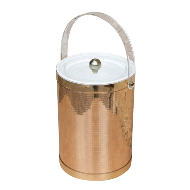 Georges Briard Mid Century Modern Gold Ice Bucket For Sale