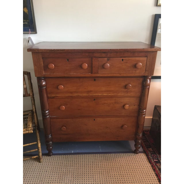 Beautiful antique federal style dresser in fabulous cherry wood. In excellent antique condition, all drawers open nicely...