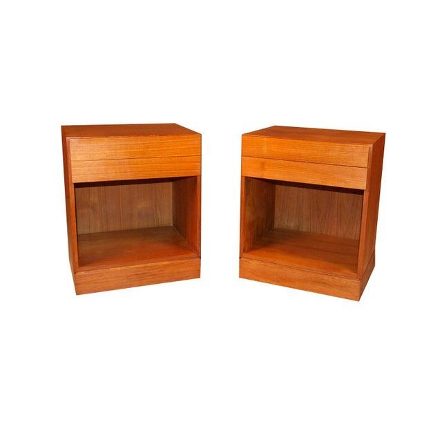 Arne Wahl Iversen Teak Danish Modern Nightstands End Side Tables Pair For Sale - Image 12 of 12