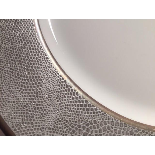 Contemporary Bernardaud Sauvage Pattern Dinnerware Set of 8 Dinner and Salad (Or Dessert) Plates For Sale - Image 3 of 13