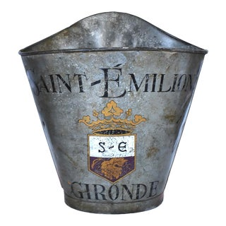 19th-Century Antique French Saint-Emilion Wine Region Grape Hotte Harvesting Bucket For Sale