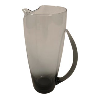 Mid-Century Hand Blown Murano Pitcher For Sale