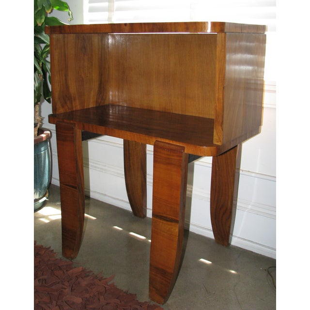 French Art Deco Burl Wood Cabinet / Liquor Bar - Image 8 of 11