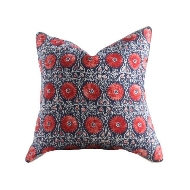 Riya Suzani Medallion Pillow - Image 2 of 3