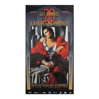 1991 Tamara de Lempicka Art Deco Exhibition Poster