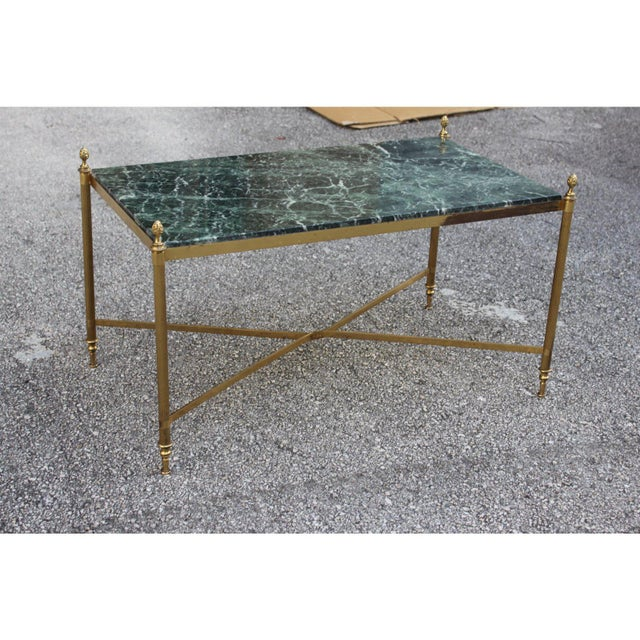 Art Deco 1940s Vintage French Maison Jansen Coffee Table For Sale - Image 3 of 13