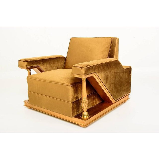 For your consideration a pair amazing chairs designed by Octavio Vidales for Muebles Johrvy. Solid mahogany wood frame...