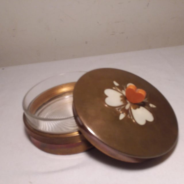 1930s Art Deco Chase Vanity Powder Jar For Sale - Image 5 of 11