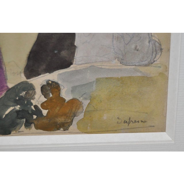 1920s Charles-George Dufresne Original Watercolor For Sale - Image 4 of 5