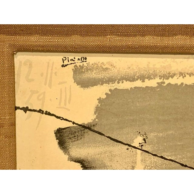 Wood Before the Thrust, Silkscrren Litho, After Picasso For Sale - Image 7 of 9